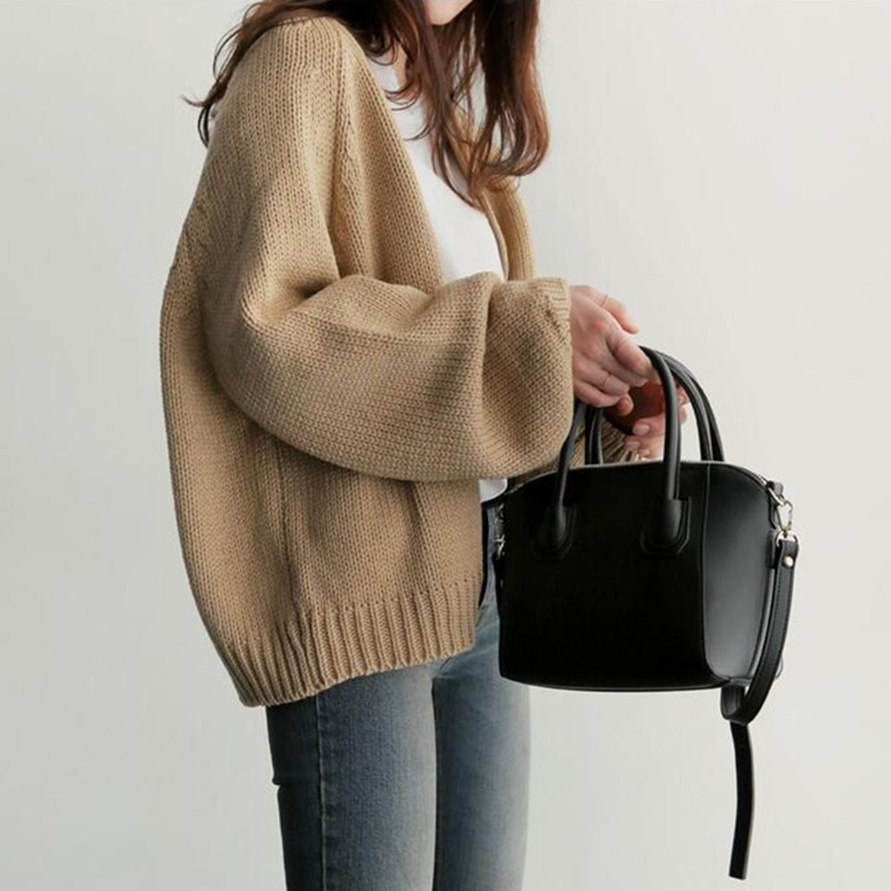 Korean Japanese Brown Cardigan Women Sweater Winter Spring 2020 Fashion Knitted Sweaters Female Outwear Casual Tops Solid Color