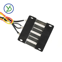 Ac dc 12 v 150 w ptc elemento de aquecimento aquecedor elétrico termostática cerâmica 3 linha|ptc heater thermostat|12v ptc|thermostat electric heater -