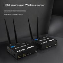 200M 5GHz HDMI nadawcy bezprzewodowy Wifi przedłużacz HDMI nadajnik-odbiornik konwerter wideo bezprzewodowy przedłużacz HDMI przedłużacz HDMI DVD PC do telewizora tanie tanio kebidu Kobiet-Kobiet 200m wireless hdmi extender Kable HDMI Woreczek foliowy