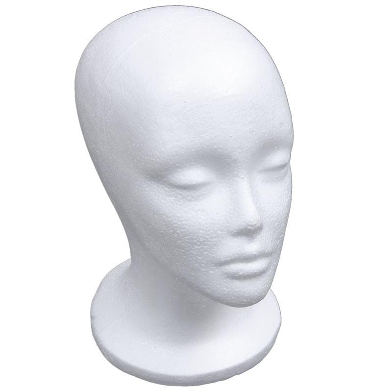 Female Foam Mannequin Head Model Hat Wig Display Stand Rack White