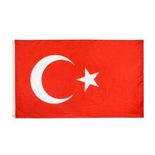 Johnin bandeira da turquia, 90x150cm
