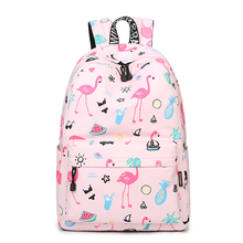 цена на WINNER Original Designer Backpacks Brand Women Bags 2017 Cute Flamingo Printing Backpack For Teenage Girls Laptop School Bags