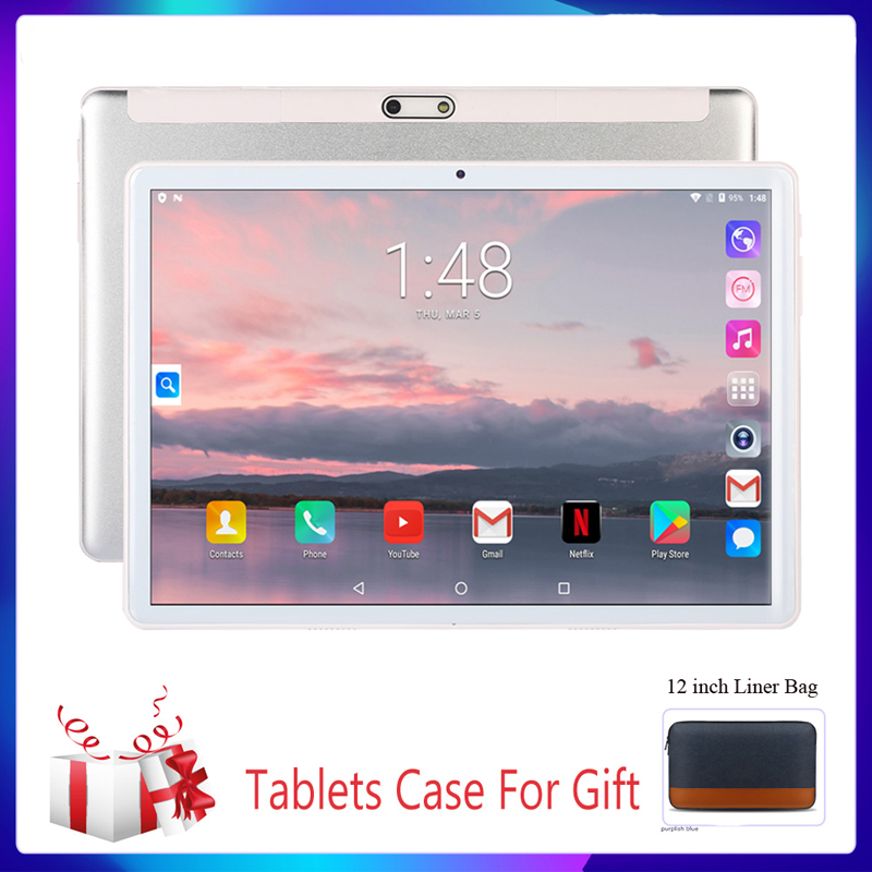 New 10.1inch Tablet PC System 3G Phone Call 2GB RAM 32GB ROM Quad Core 5.0MP Wi-Fi IPS Tableten PC +Keyboard