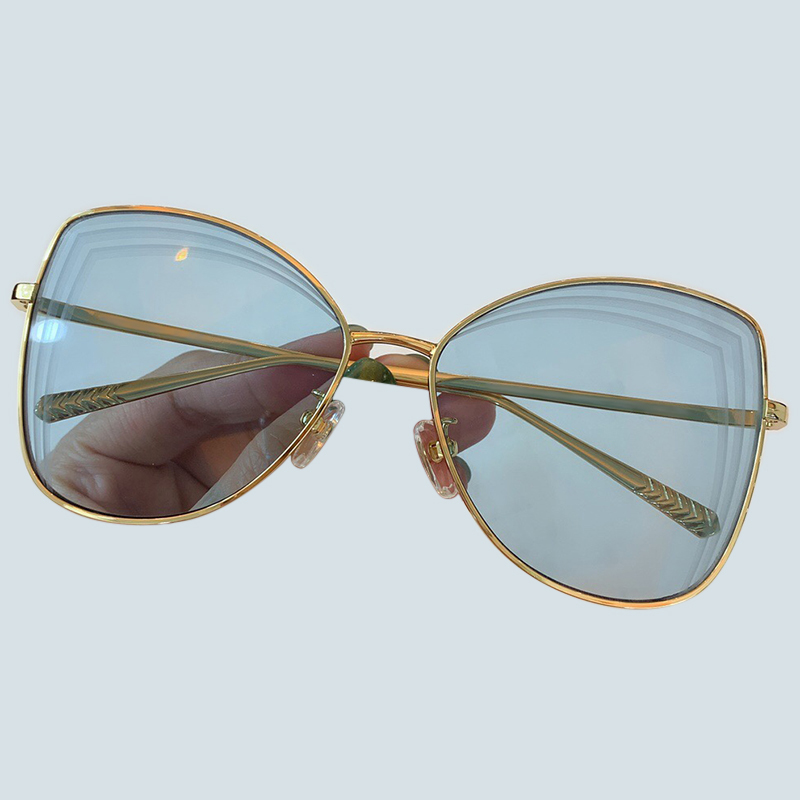 Women Butterfly Sunglasses Luxury Designer Metal Frame Sun Glasses UV400 Shades with Packing Box