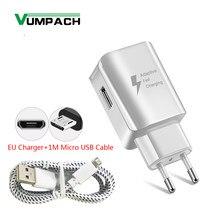 Vumpac – chargeur adaptateur mural USB, charge rapide, avec câble Micro usb, pour Samsung S7 S6 S7 S5 S4 j3 j5 Xiaomi Huawei Android