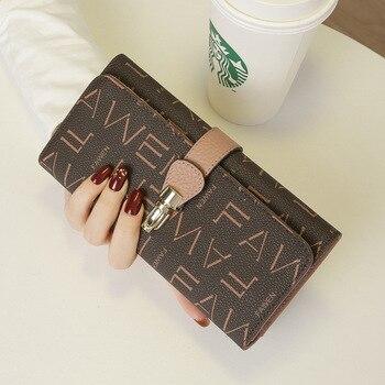 2020 New Fashion Leather Strap Purse Large Capacity Mobile Phone Leather Wallet Purse Women Purse Handbag Luxury