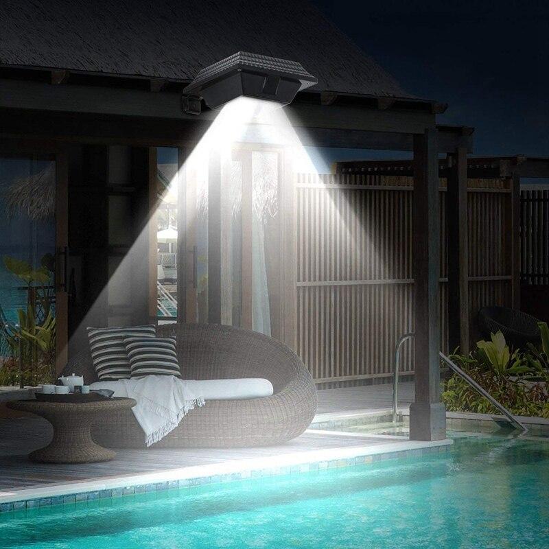 Solar Gutter Lights 12 LED Solar Powered Waterproof Security Lamp 6000K White For Outdoor Garden Fence Outside Garage