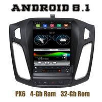 10.4 IPS screen PX6 Tesla Style android 8.1 car radio gps player for focus 3 2012 2013 2014 2015 2016 2017 with wifi usb 4+32G