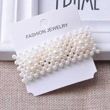 Заколки для волос с жемчугом женские элегантные модные заколки