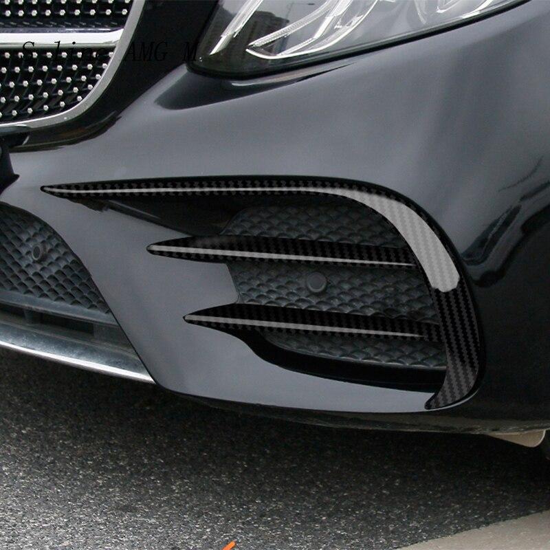 Автомобильный Стайлинг для Mercedes Benz C Class W205 C43 C63 Для AMG, передний противотуманный светильник, лампа из углеродного волокна, накладка, наклейка...