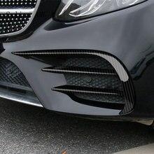 Kit para estilização de automóveis mercedes benz c, classe c, w205, c43, c63, para farol de milha, lâmpada de fibra de carbono, com revestimento acessórios automotivos