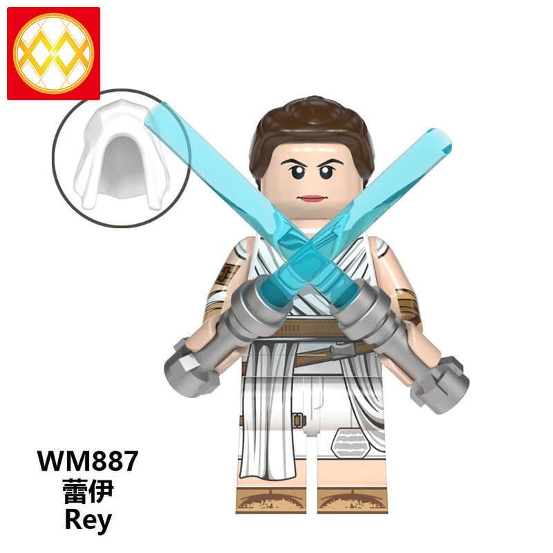Star Single Finn Baby Yoda personajes de la guerra mandaloriana WM6081 bloques de construcción juguetes para niños figuras de construcción bloques juguetes tienda
