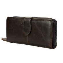 Men Long Wallet Vintage Genuine Leather Clutch Purse Male Zipper Card Holder Wallet Hasp Bifold Men's Coin Bag for Phone high quality oil wax cowhide men long wallet vintage money pocket card holder bifold purse genuine leather zipper clutch bag