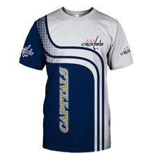 D'été Décontracté Hauts Washington Blanc bleu couture courbe dot imprimé lettre Capitales T-shirts
