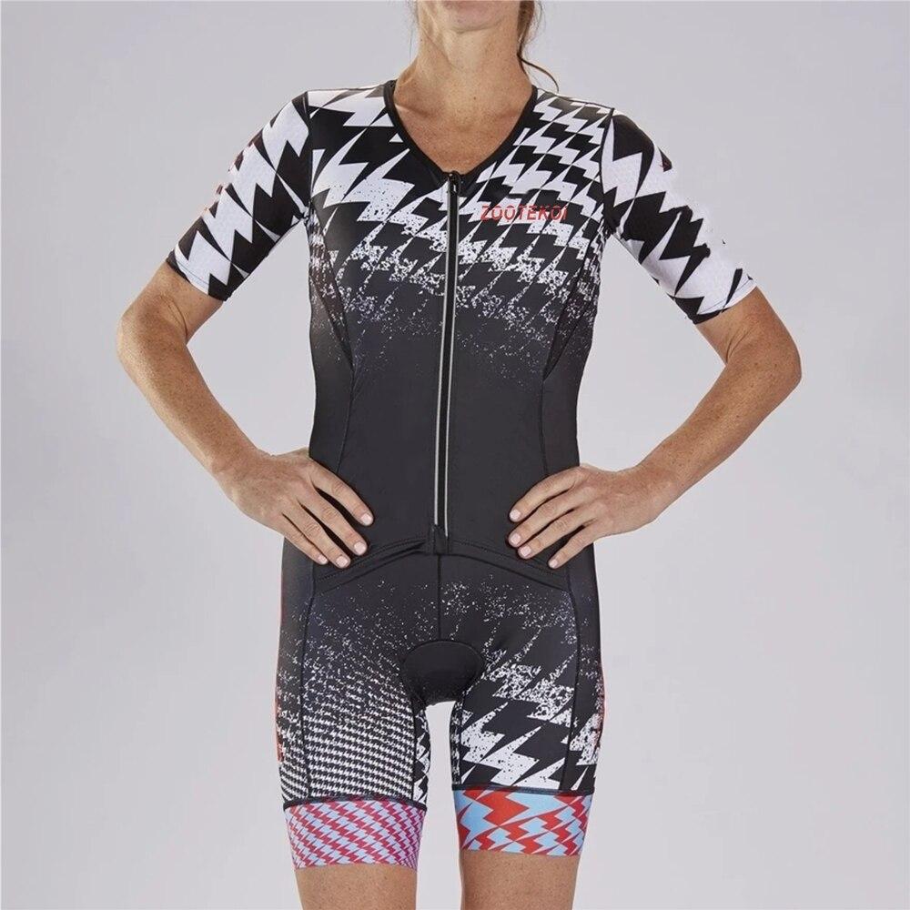 ZOOTEKOI 2020 Frauen Triathlo Skinsuit körper anzug Trisuit Kurzarm Speedsuit MTB Maillot Ciclismo Kleidung Radfahren Jersey Sets