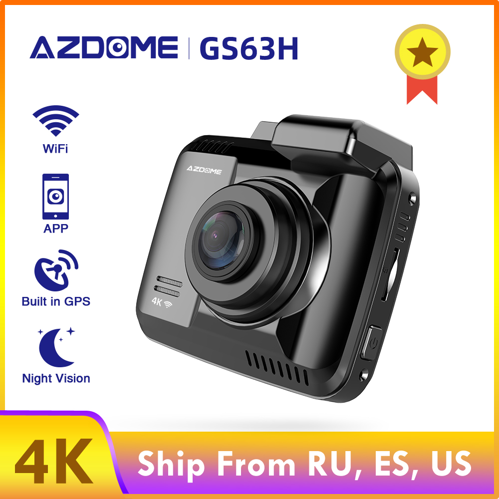 AZDOME GS63H 4K 2160P видеорегистратор Встроенный Wi-Fi gps Автомобильный видеорегистратор 2,4