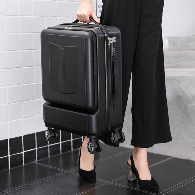 Travel Suitcase 24 Inch Front Pocket Rolling Luggage Trolley Password Box 20′ Boarding Suitcase men Women Travel Bag Trunk