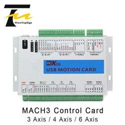 WaveTopSign Mach 3 CNC Control Card 3axis 4axis 6axis XHC MK4 CNC Mach3 USB Port Support Window 7 Systerm/stepper/servo motor