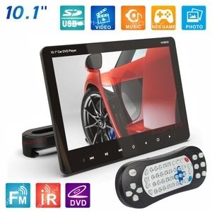 Image 2 - חדש! 10.1 סנטימטרים אוטומטי רכב מושב אחורי רכוב DVD נגן צג MP4 MP5 וידאו נגן DVD 9/VCD//USB/ SD/HDMI/IR/FM/משחק SH1018DVD