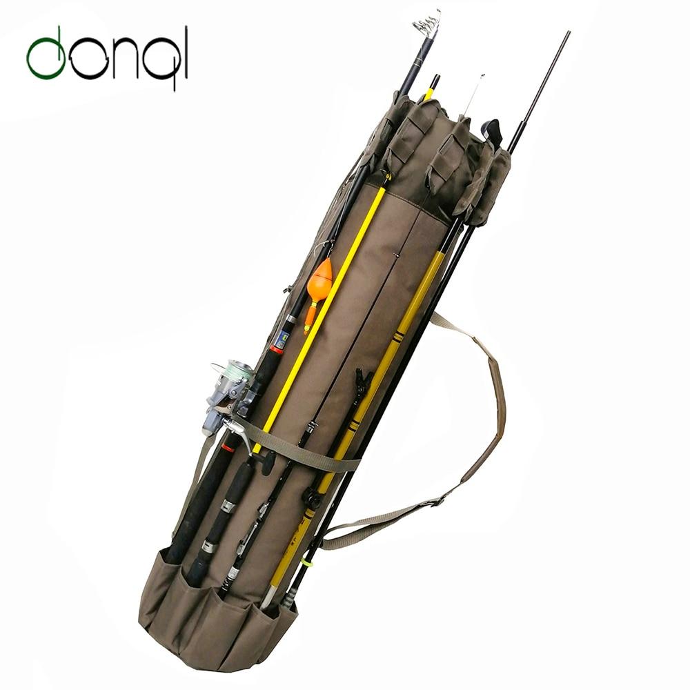 DONQL Fishing Bag Multifunctional Outdoor Nylon Fishing Rod Bags Case Fishing Tackle Tools Storage Bag High Capacity Backpack