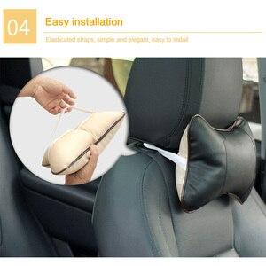 Image 4 - 1pc עור לנשימה רשת אוטומטי רכב צוואר מנוחת משענת ראש כרית כרית חדש רכב ראש שאר מושב רך Hendrest כרית אבזרים