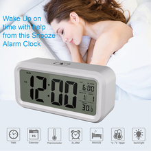 Digital Kids bedside wake up alarm clock with snooze  calendar and  thermometer electronic LCD desk clock night clock