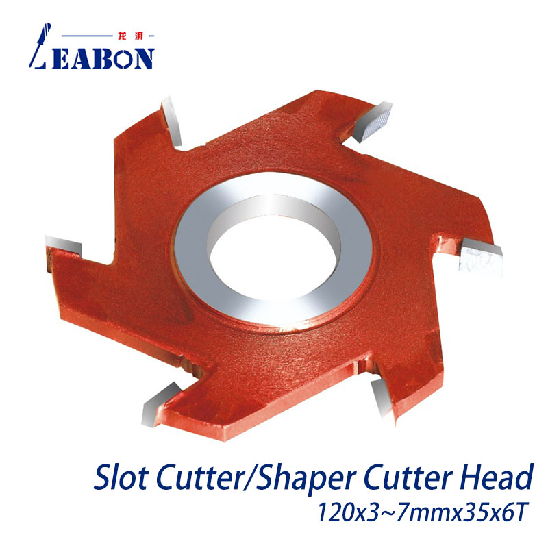 3pcs Woodworking Slot Cutter TCT Spindle Shaper Cutter Head 3mm to 7mm Height 120x35x6T Free Shipping