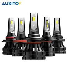 2 قطعة H7 LED كشافات H4 H11 H8 H9 9005/HB3 9006/HB4 9012 HIR2 10000LM 6000K الأبيض سيارة مصابيح ليد لمصابيح السيارة الأمامية الضباب أضواء السيارة أضواء