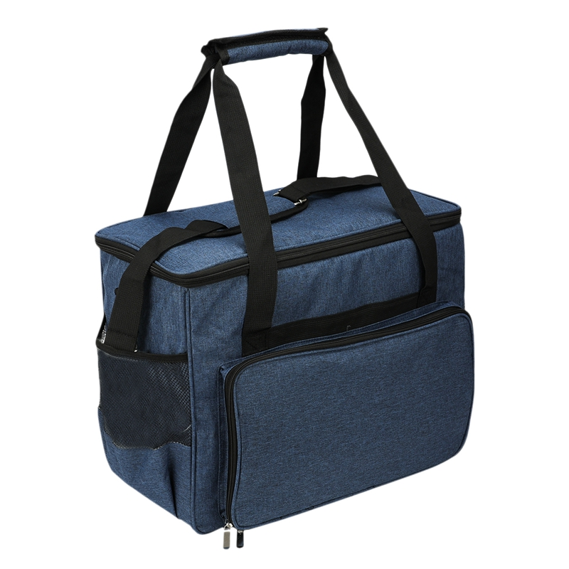 Sewing Machine Storage Organizer Sewing Machine Bag Travel Tote Bag for Most Standard Sewing Machines and Accessories Blue