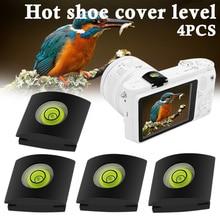 4 Pcs/Set Camera Bubble Spirit Level Hot Shoe Protector Cover For Sony A6000 Canon DSLR GK99