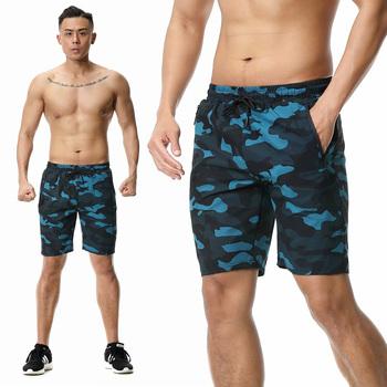 Spodenki męskie bieganie szybkoschnący trening siłownia męskie spodenki sportowe bieganie 2020 kamuflaż trening tenis szorty tanie i dobre opinie BAOGEYANG CN (pochodzenie) Poliester Pasuje prawda na wymiar weź swój normalny rozmiar Running shorts Men s shorts camouflage shorts