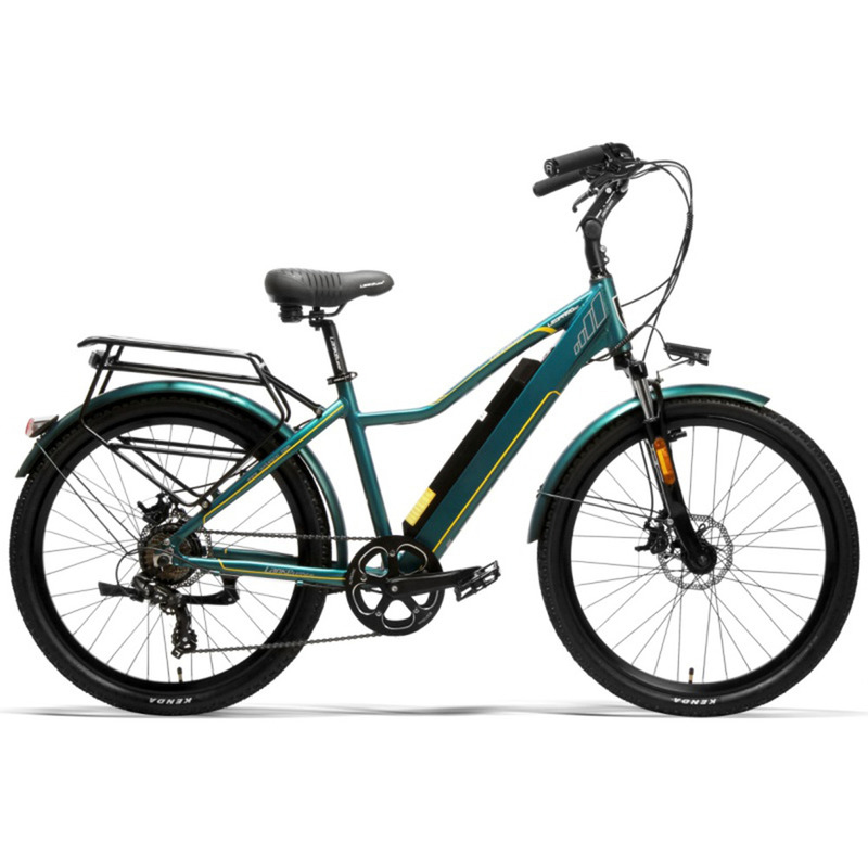 "EU Quality LANKELEISI 26"" City Bike with PAS Electric Bicycle with 36V 18AH L G Lithium Battery 1"