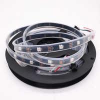 5 м 30 светодиодов/м DC5V WS2812B WS2812 Светодиодная лента, индивидуально Адресуемая умная RGB Светодиодная лента, черный/белый PCB Водонепроницаемая ...