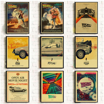 Classic Movie Back To The Future  Vintage Posters For Home/Bar/Living Decor kraft Paper high quality poster wall sticker wall art canvas print back to the future 1 2 3 hot movie poster for living room decor bar decoration