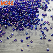 1500pcs rainbow colors beads 2mm glass earring bracelet necklace costume accessoriey freeshop