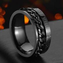 Anel de aço inoxidável anel de aço de titânio para homens jóias de moda