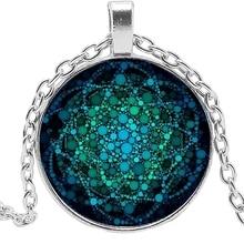 2019 New Life Flower Necklace Om Yoga Chakra Pendant Mandala Fashion Classic Round Convex Glass