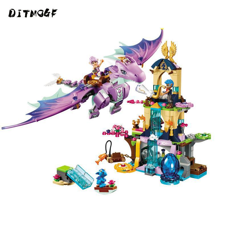 Elves Aira & The Song of The Wind Dragon Building Blocks 41193 <font><b>Legoings</b></font> Elves Figures Bricks Model Toys Gift image