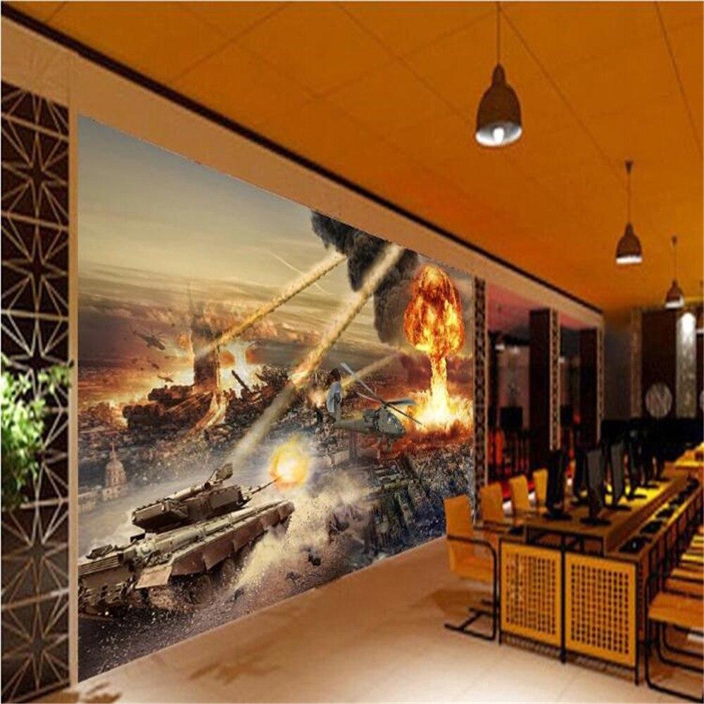 Milofi Final Battle Internet Cafe Theme Space Wall