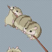 Stitching Rabbit Love Hamster Embroidery Diy On-A-Stick Animal Canvas Cotton-Thread And