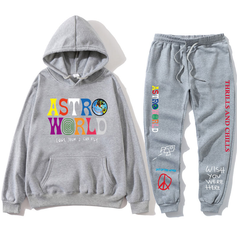 Hdbe307ea66824dcf8f3aaa412f578d3by 2021 TRAVIS SCO ASTROWORLD hope you are here HOODIES fashion letters ASTROWORLD HOODIE streetwear + pants men's pullover sweatshirt