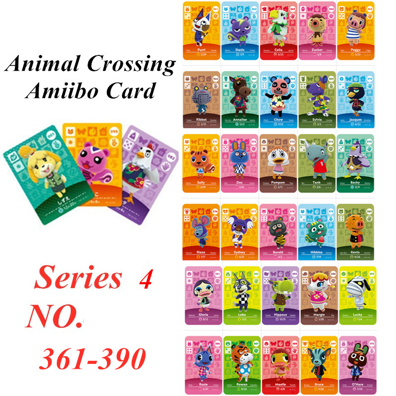 Animal Crossing Card Amiibo NFC Card For Nintendo Switch NS Games Series 4  (361 To 390)