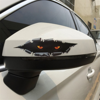 PVC Car Stickers Creative 3D Sticker Cat Eye Peeking Automobile Sticker Decoration Posters , DIY Home Wall Sticker Decal 5*17cm image