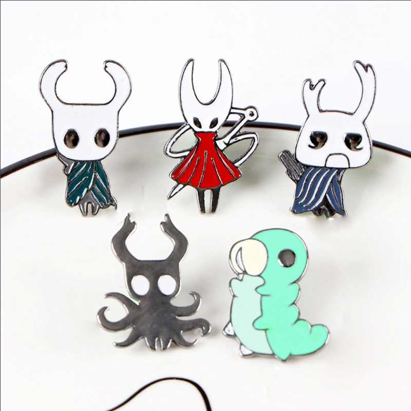 Game Hollow Knight Pins Metal Brooch Pin Cartoon Badge Decoration On Backpack Clothing Decorative Bag Brooches Fashion Jewelry