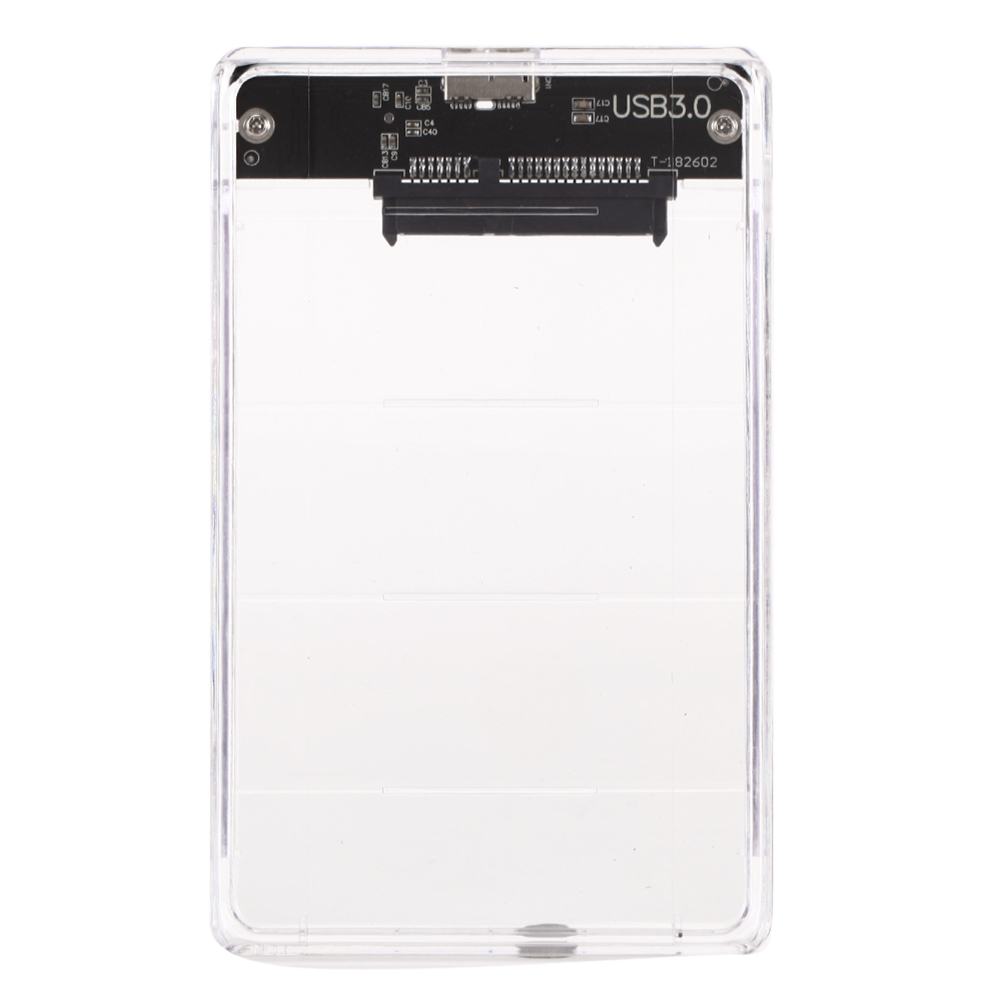 5Gbps USB 3.0 SSD Mechanical Disk Transparent Mobile Hard Disk Box 2.5 inch SATA SDD HDD Case External Storage