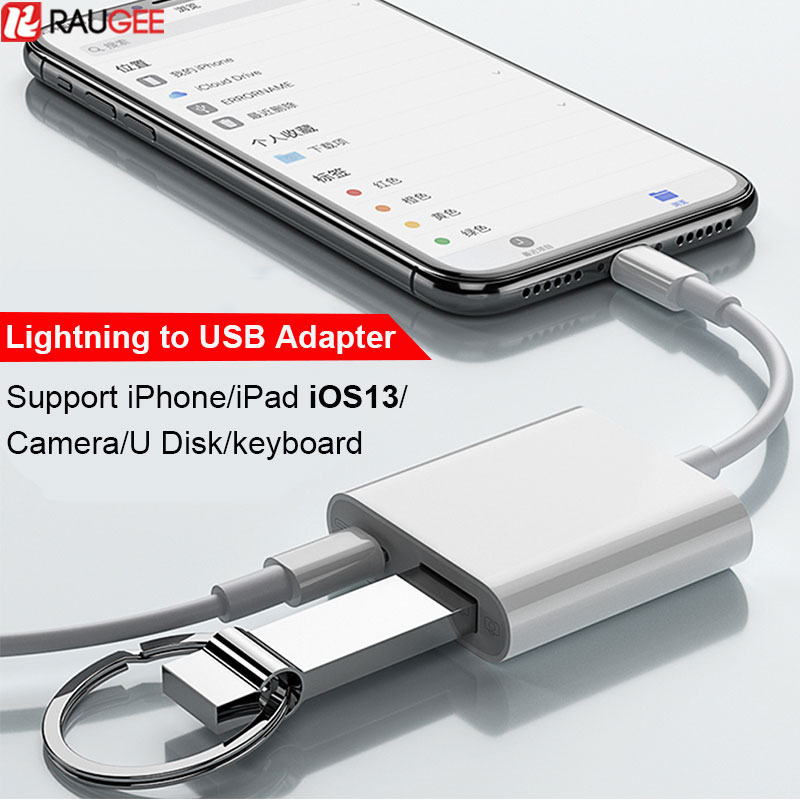 OTG USB Cable Adapter For IPhone IPad IOS13 Lightning To USB Adapter Lightning To U-Disk MIDI Keyboard Mouth USB Camera Adapter