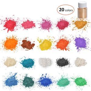 Image 5 - Biutee 32 renk mika tozu epoksi reçine boya inci Pigment doğal akrilik tırnak kiti yeni BIUTEE poli jel tırnak jeli Glitter tozu