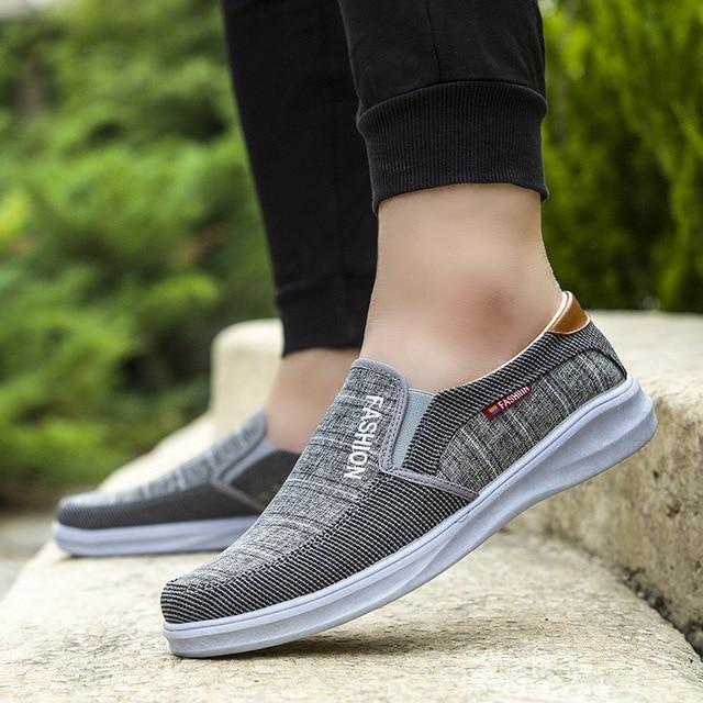BJYL New canvas fashion sneakers men's casual belt light shoes comfortable breathable walking shoes Zapatillas Hombre M1317 2