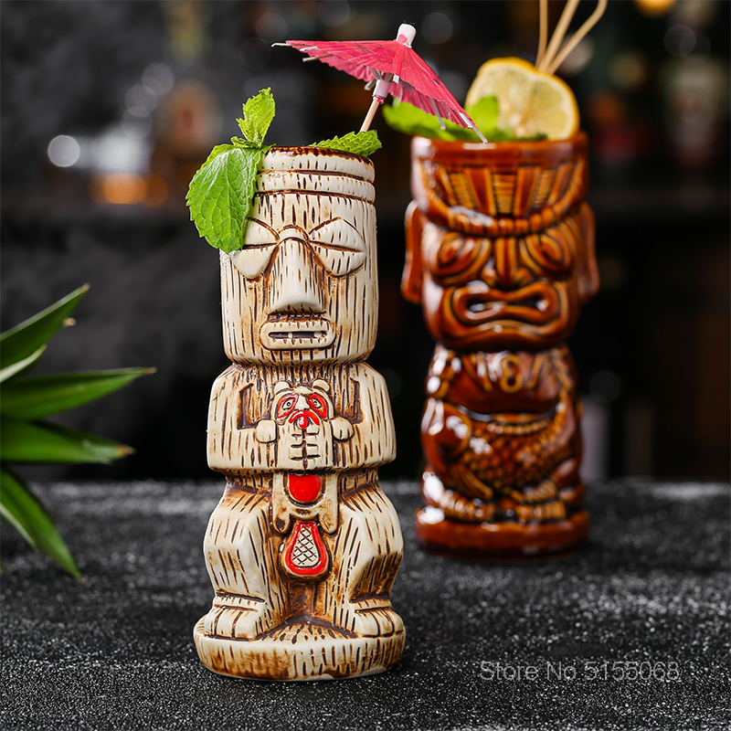 Creative Hollywood Bar God Statue Skull Cocktail TIKI Cup Cold Drinks Mixing Funny Wine Glass Diy Smoothie Mug Ceramic Container