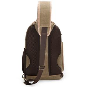 Image 4 - Płótno temblak skórzany Messenger torba na aparat profesjonalna torba do przechowywania DSLR wytrzymały wodoodporny i odporny na rozdarcia plecak